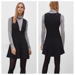 Wilfred Black Montbrun Mini Dress w/ Low Neckline